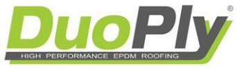 Duoply rubber roofing membrane logo