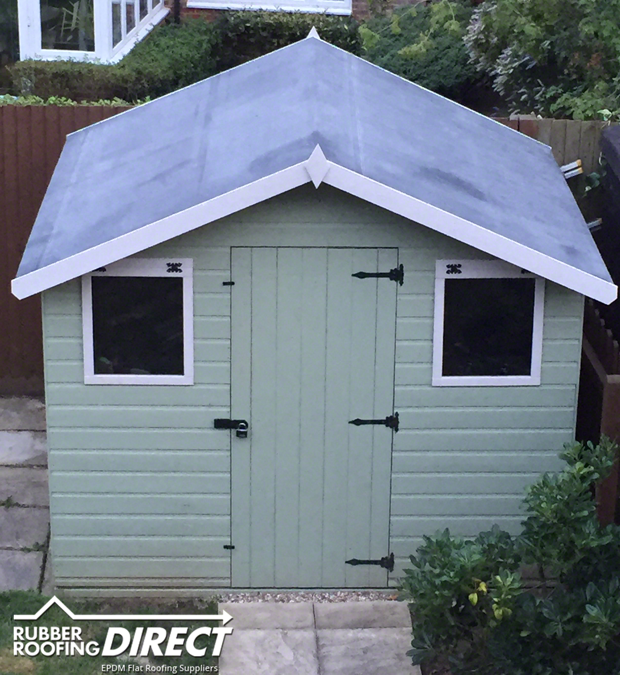 Rubber sheds roofing shed roof covering epdm kits for Shed roofs