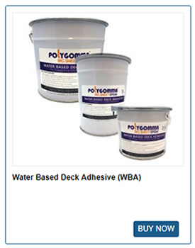 Water Based Deck Adhesive from Polygomma
