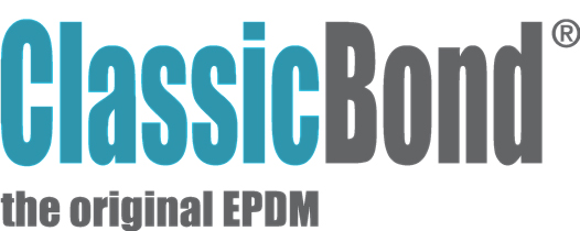 Classicbond logo for EPDM one piece diy rubber roofing membrane for flat roofs