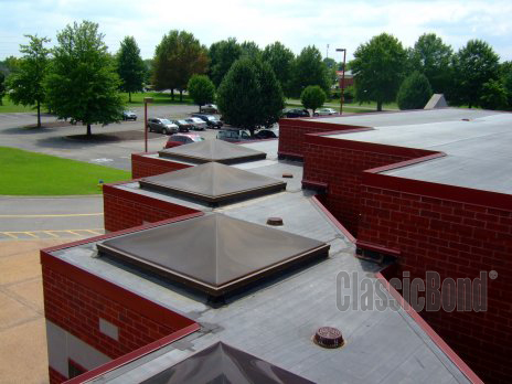 Roofs with the Classicbond EPDM one piece diy rubber roofing membrane for flat roofs