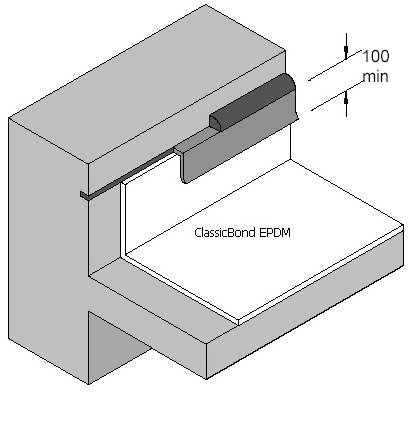 metal wall flashing detail for epdm roof